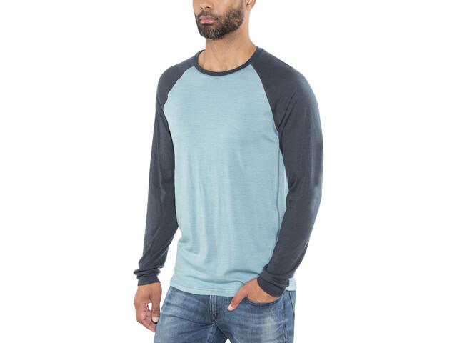 Lundhags Merino Light LS Raglan Shirt Herr sky blue/deep blue